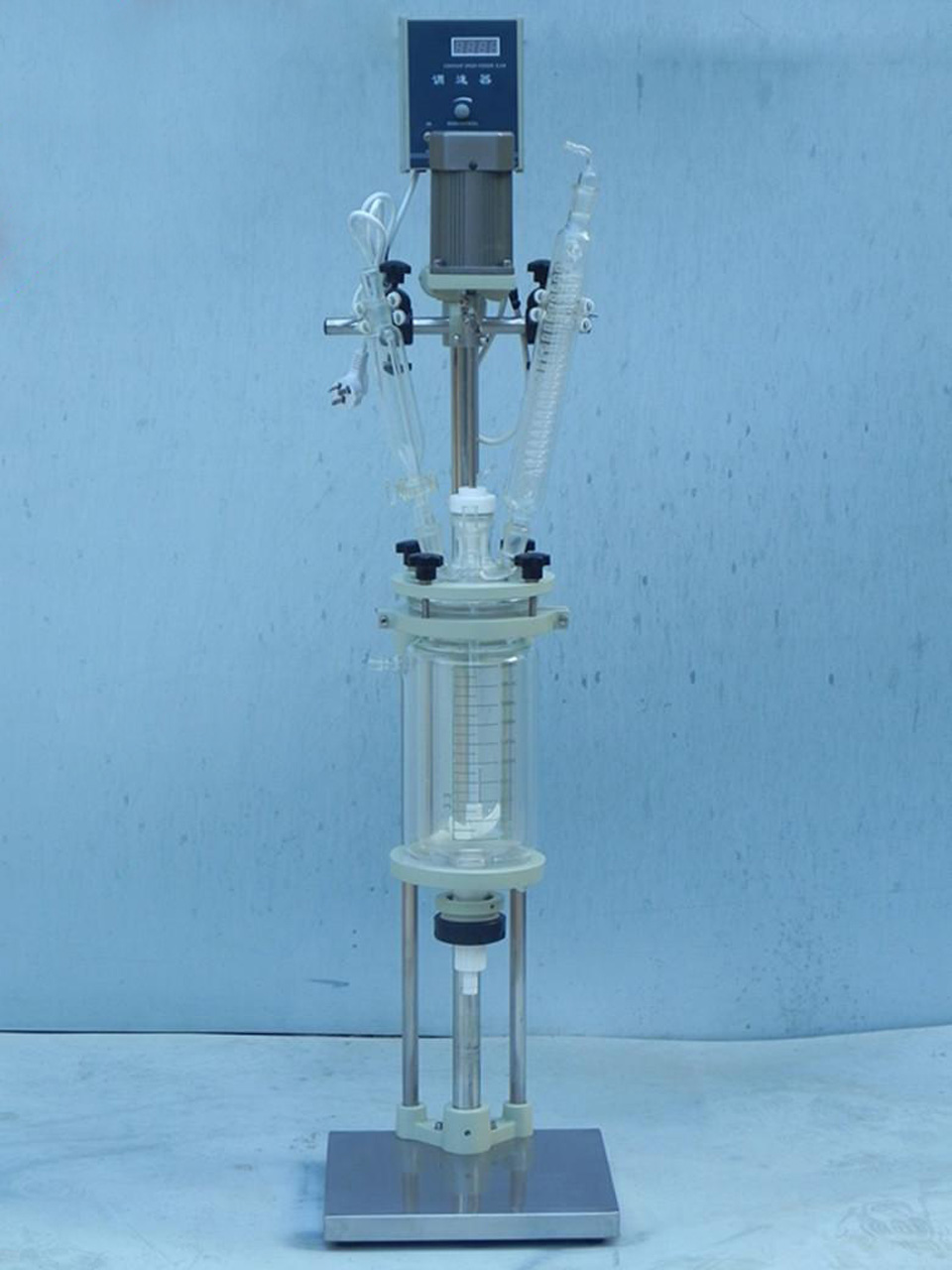 jacketed glass reactor vessel