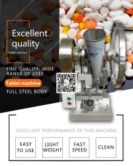 Single punch tablet press TDP 1.5 pill press,15kn Pressure, Max.dia 12 mm, Thickness 6mm ,6000 pills/ h,220 V/110 V