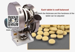 Pill press Tablet Press Machine TDP-6,Max.dia 25 mm,60 kn Pressure Thickness 10 mm ,:3600 pills/ h,220 V/110 V,0.11KW