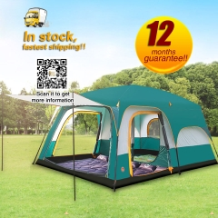 2 Room 1 hall 8-10 Persons outdoor family camping tent
