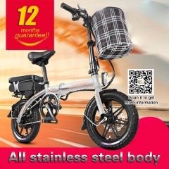 48V 400W 30ah mini electric bike 14 inch