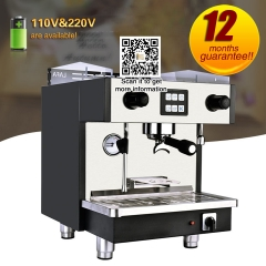 coffee machine with milk frother