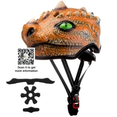 kid bicycle dinosaur helmet equipment