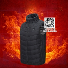 2018 Men Outdoor USB Infrared Heating Vest Jacket Winter