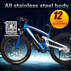 26 inch 36v 10.4ah battery 250w motor fat tire bike