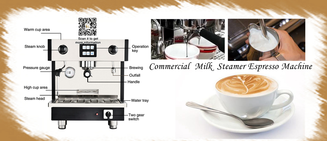 Commercial Milk Steamer Espresso Machine