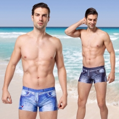 Swimming trunk 2019 New Simulation Cowboy Men's Swimming Beach Swimwear