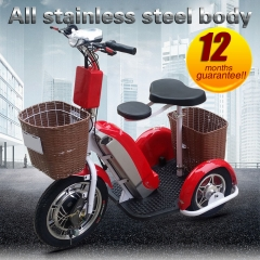 48v 12ah electric tricycle 500w motor folding electric tricycle front-wheel drive adult trike