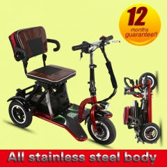 48V 12AH 300w Tricycle with display Foldable Lithium battery electric tricycle
