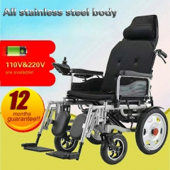 Electric wheelchair full-lying folding wheelchair for the elderly