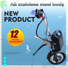 power chair trailer mini lithium battery aluminum alloy wheelchair handcycle attachment 12 inch wheel 48v 16AH battery