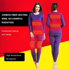 Men Heating Underwear Set Long Sleeves heated body suit