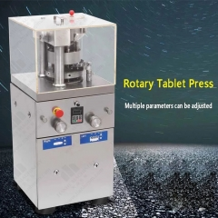 ZP 9 rotary tablet press ,9 sets of dies. 40kn Pressure, Max.dia 12-14mm,16200 pill in one hour.