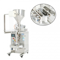 Paste pouch packing machine with hopper