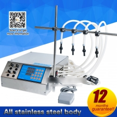6 heads Liquid  quantitative filling machine