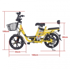 E bike 48v 12A battery 350w 18 inch electric bicycle 48v 3C certified 25km/H