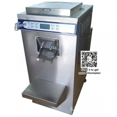 Horizontal hard ice cream machine